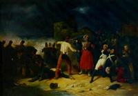 a revolt in a paris street by victor-jean adam