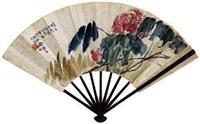 花卉 (recto-verso) by deng sanmu