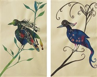 untitled, birds (in 2 parts) by chris ofili