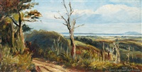 auckland harbor from titirangi by albert edward aldis