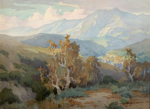after the rain santa monica hills by marion kavanaugh wachtel