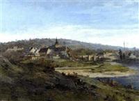 le village des peintres, gretz sur loing près de fontainebleau by hippolyte henri jobard