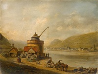 a view of the danube by jacques françois carabain
