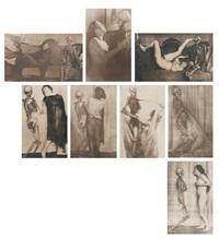 narre tod, mein spielgesell (portfolio of 8) by franz fiedler