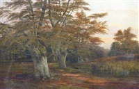 a clearing in a wooded landscape by robert allan