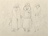 three women in berlin by george grosz