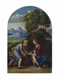 the holy family by battista (de luteri) dossi