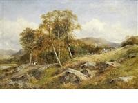 a hillside cottage and bridge by david bates