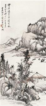 空山孤亭 (landscape) by yao shuping