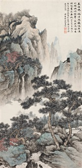 翠岚居隐<br>scenery of autumn mountains by wu hufan