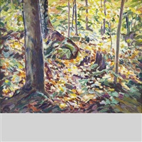 autumn woodland, camp charmette by edith grace coombs