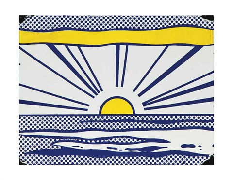 sunrise from seven objects in a box by roy lichtenstein