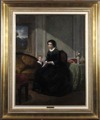 femme et enfant dans un intérieur by florent willems