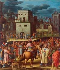 umkreis pilatus zeigt christus der menge by herri met de bles