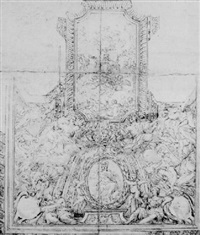 study for a ceiling decoration by ludovico gimignani