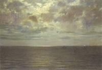 fin de jour sur la mer by eugène d' argence