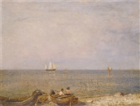calm on the black sea by nikolai nikanorovich dubovskoy