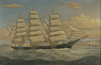 clipper ship p.r. hazeltine by percy a. sanborn