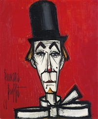 clown au chapeau haute forme by bernard buffet