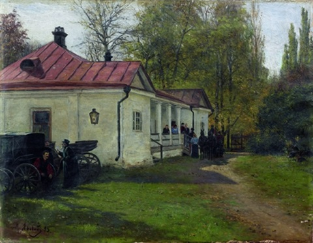 cour intérieure dun manoir russe by mikhail mikailovich iarovoi