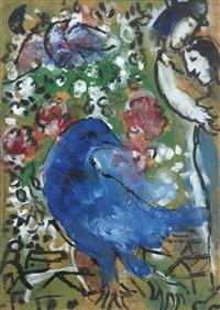 l'oiseau bleu by marc chagall