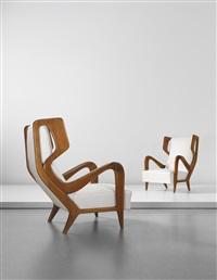 rare wingback chairs (pair) by gio ponti