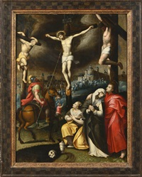 la crusifixion by michiel coxie the elder