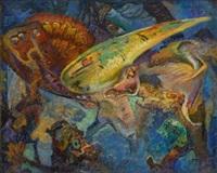beneath the sea (study) by hugh henry breckenridge