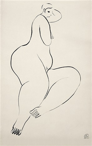躺臥裸女 reclining beauty by sanyu