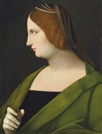 portrait of a lady by vincenzo catena