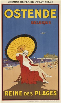 ostende belgique/reine des plages by samuel colville bailie