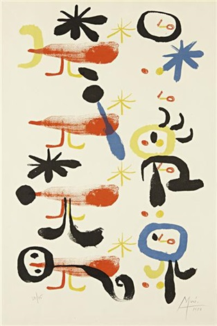 the bird catchers i by joan miró