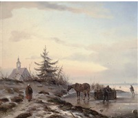 securing a barrel on the ice by carl eduard ahrendts