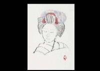 maiko (sketch) by meiji hashimoto