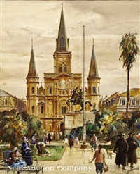 st. louis cathedral, new orleans by james milton sessions