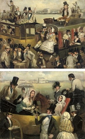 the derby epsom high life low life pair by archibald s henning