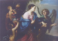the flight into egypt by flaminio torre