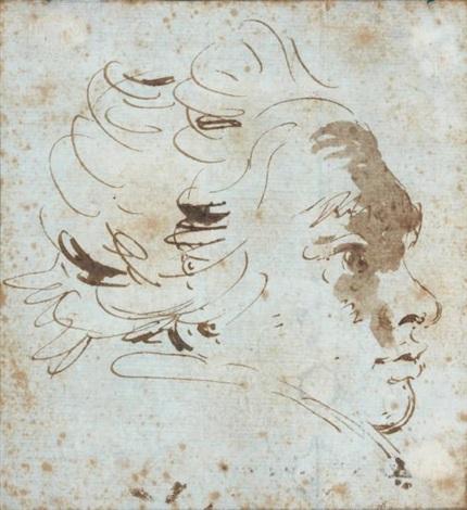 visage de jeune homme tourné vers la droite by giovanni battista tiepolo
