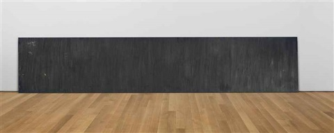 horizontal rectangle to the floor by richard serra