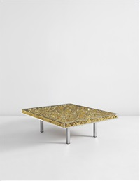 table d'or, editioned (22-karat) by yves klein