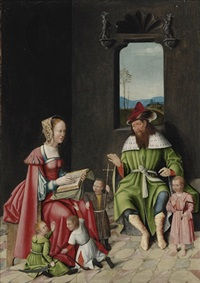 the family of mary cleophas and alpheus by gosvin (goossen) van der weyden