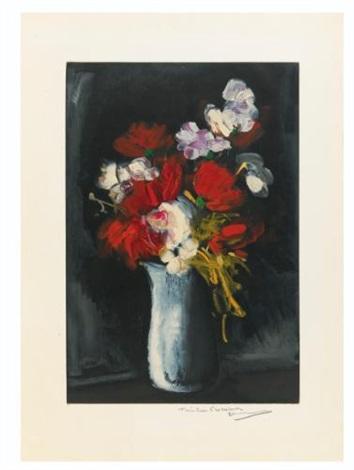 vase de fleurs vase de fleurs sur fond noir 2 works by maurice de vlaminck