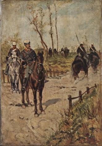 pattuglia di cavalleria by giovanni fattori