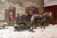 man med hästar och släde by olof arborelius
