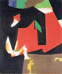 komposition mit rot und schwarz by victor fontaine