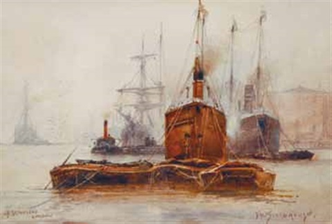 off gravesend london by frederick william scarborough