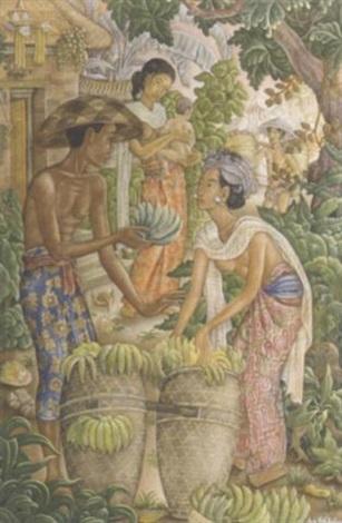 selling bananas by anak agung gede sobrat