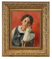 portrait of a girl by ivan semionovich kulikov
