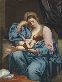 the madonna and child by italian school-roman (17)