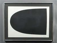 black form. from portfolio 9 by ellsworth kelly